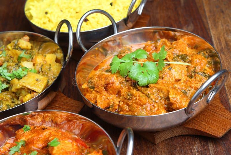 Ινδικά τρόφιμα γεύματος κάρρυ στοκ φωτογραφία με δικαίωμα ελεύθερης χρήσης