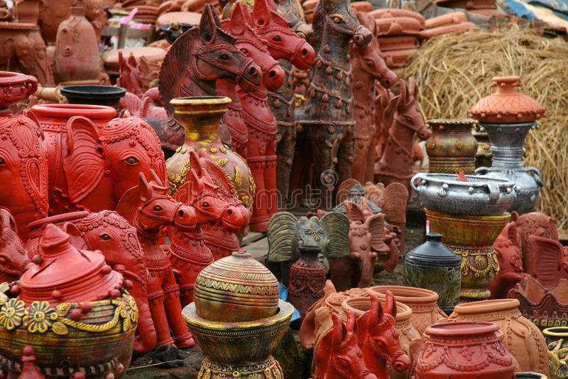 Ινδικές βιοτεχνίες στοκ εικόνες