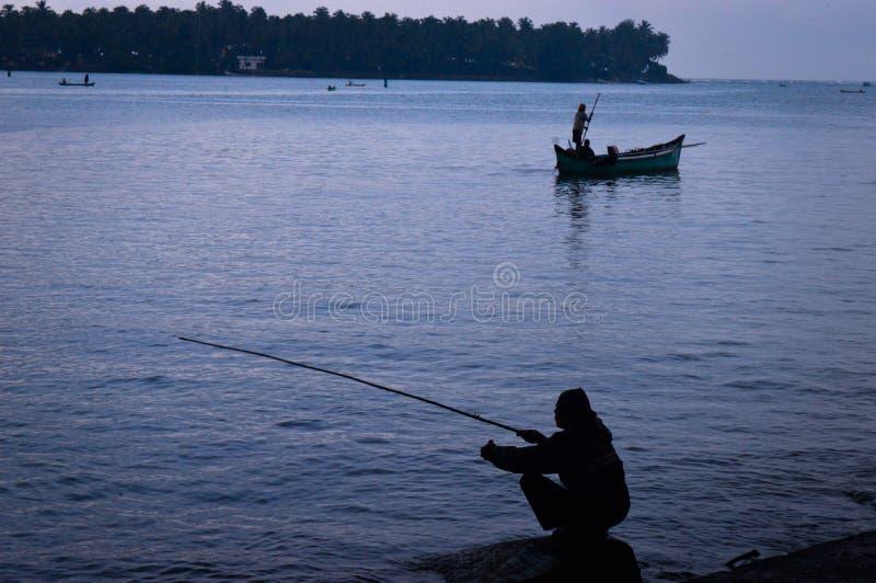 Ινδική αλιεία στοκ φωτογραφία με δικαίωμα ελεύθερης χρήσης