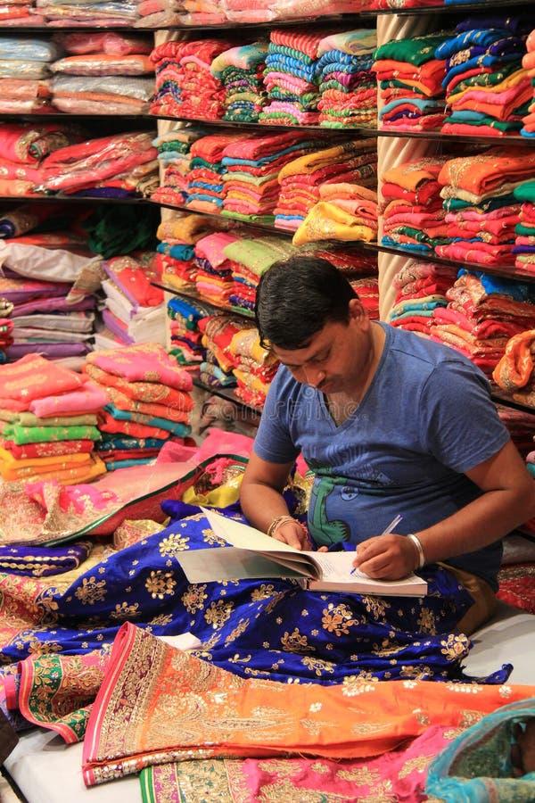 Ινδική επιχείρηση υφάσματος στοκ εικόνα