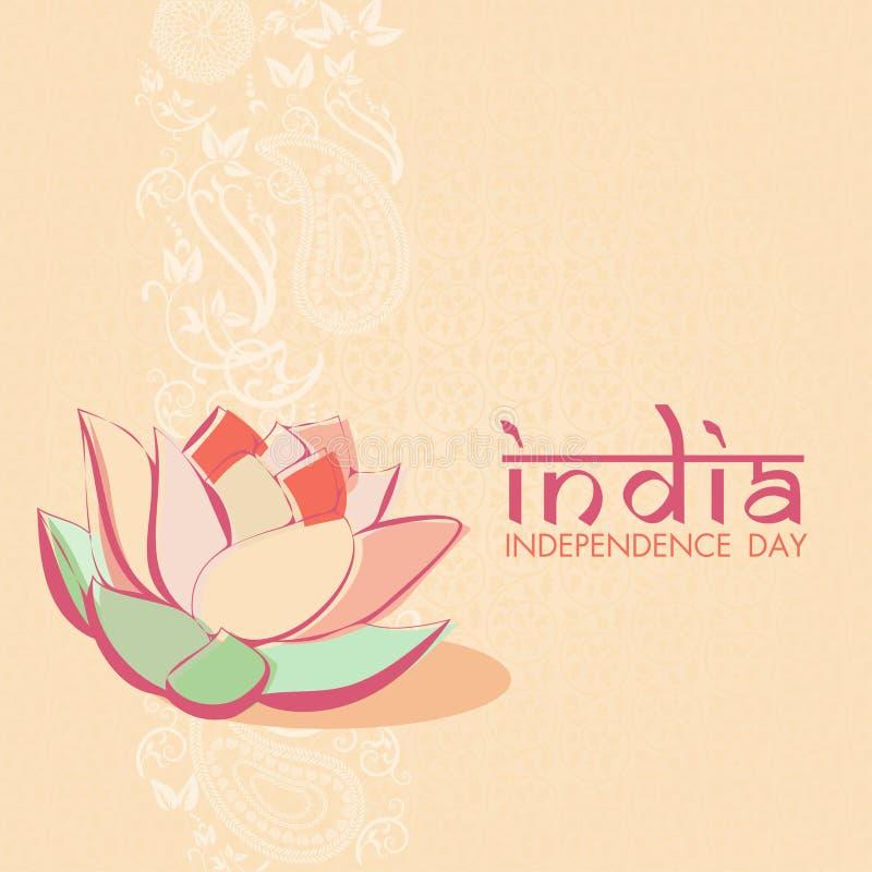 Ινδική κάρτα εορτασμών ημέρας της ανεξαρτησίας ελεύθερη απεικόνιση δικαιώματος