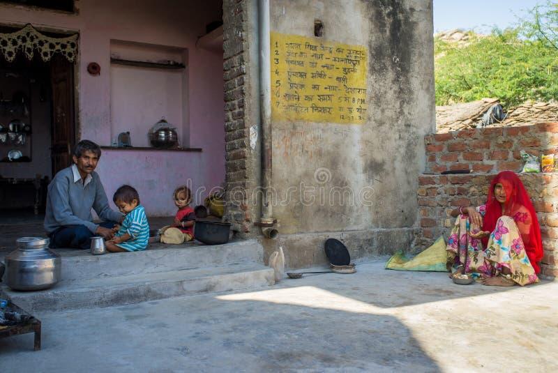 Ινδική οικογένεια στοκ φωτογραφίες με δικαίωμα ελεύθερης χρήσης