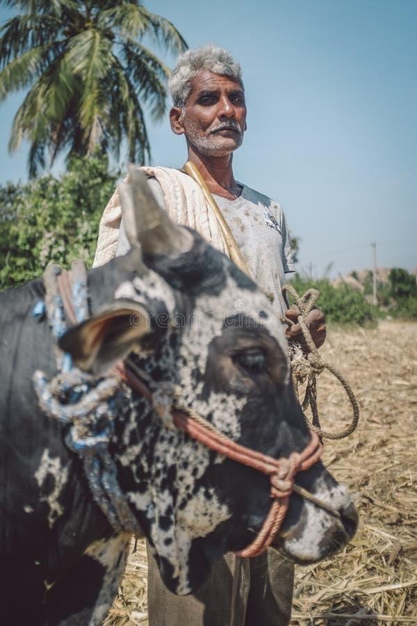 Ινδικός αγρότης στοκ εικόνα