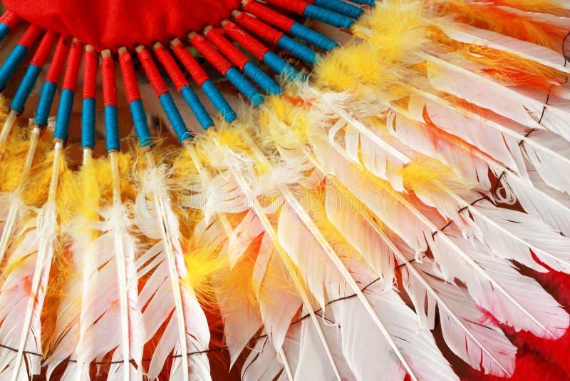 Ινδικός προϊστάμενος αμερικανών ιθαγενών headdress στοκ φωτογραφία
