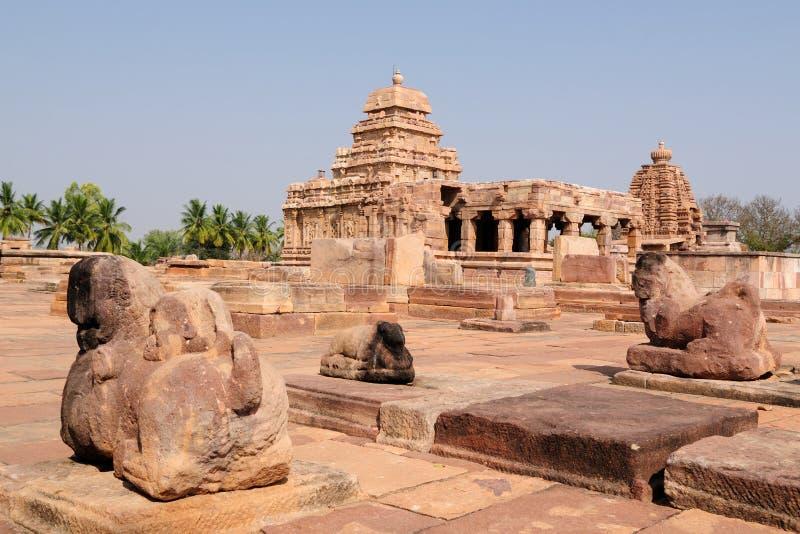Ινδικό αρχαίο architeckture στην αρχαιολογική θέση σε Pattadakal στοκ εικόνα με δικαίωμα ελεύθερης χρήσης