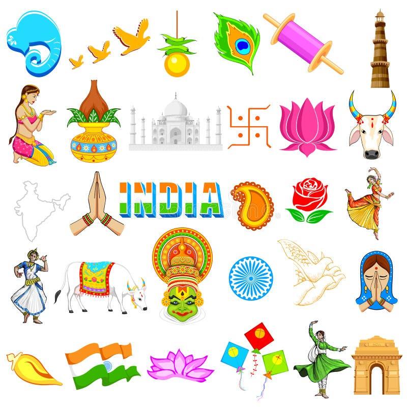 Ινδικό εικονίδιο ελεύθερη απεικόνιση δικαιώματος