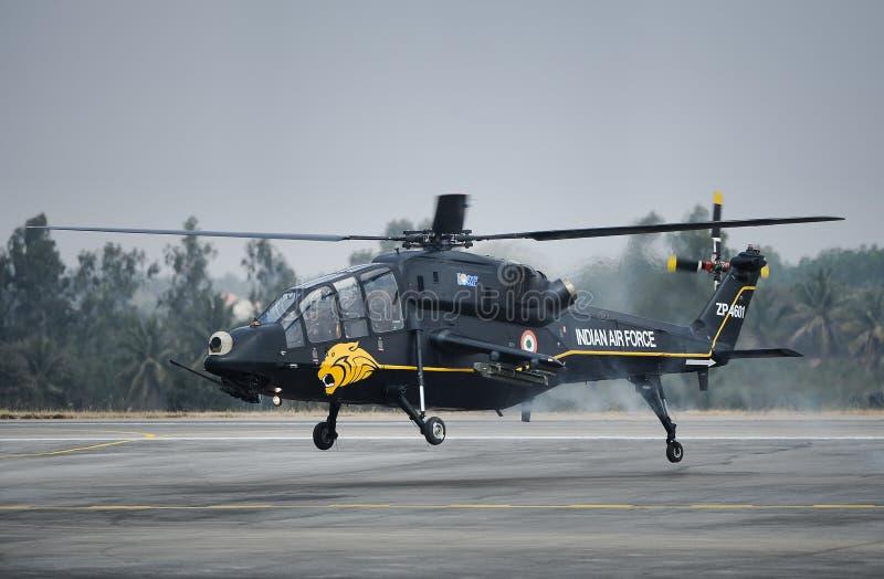 Ινδικό ελικόπτερο αγώνα Πολεμικής Αεροπορίας ελαφρύ στοκ εικόνες