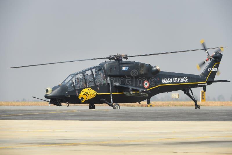 Ινδικό ελικόπτερο αγώνα Πολεμικής Αεροπορίας ελαφρύ στοκ φωτογραφίες με δικαίωμα ελεύθερης χρήσης