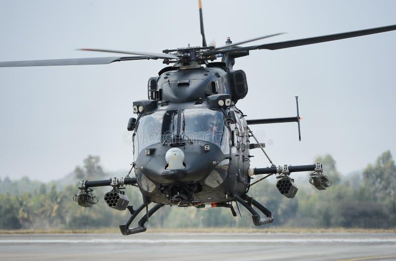 Ινδικό ελικόπτερο Πολεμικής Αεροπορίας RUDRA στοκ εικόνα με δικαίωμα ελεύθερης χρήσης