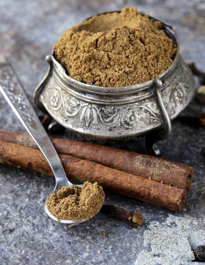Ινδικό μίγμα του masala καρυκευμάτων garam στοκ φωτογραφία με δικαίωμα ελεύθερης χρήσης