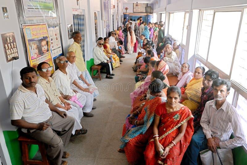 Ινδικό νοσοκομείο στοκ εικόνες