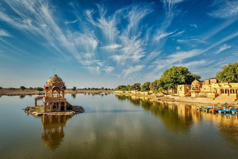 Ινδικό ορόσημο Gadi Sagar στο Rajasthan στοκ εικόνα με δικαίωμα ελεύθερης χρήσης