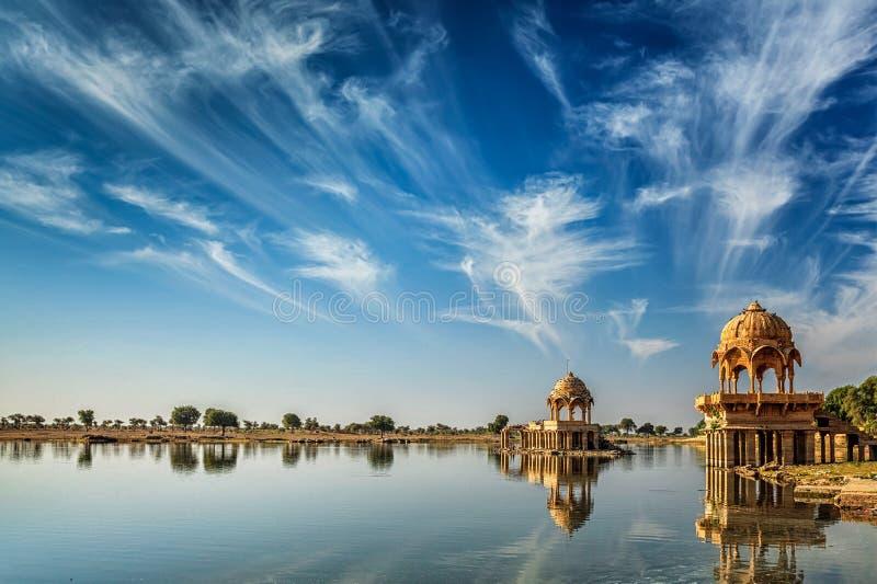 Ινδικό ορόσημο Gadi Sagar στο Rajasthan στοκ φωτογραφίες με δικαίωμα ελεύθερης χρήσης