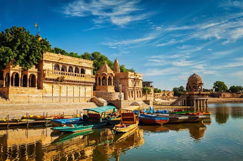 Ινδικό ορόσημο Gadi Sagar στο Rajasthan στοκ εικόνες με δικαίωμα ελεύθερης χρήσης