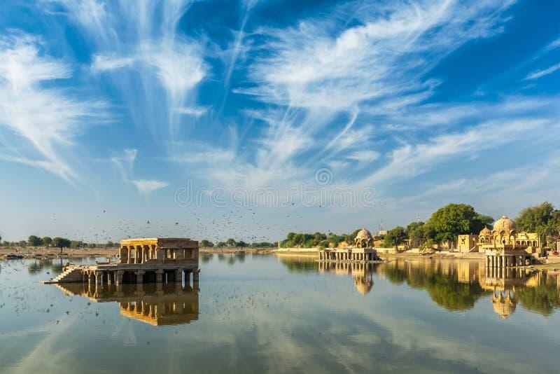 Ινδικό ορόσημο Gadi Sagar στο Rajasthan στοκ εικόνες