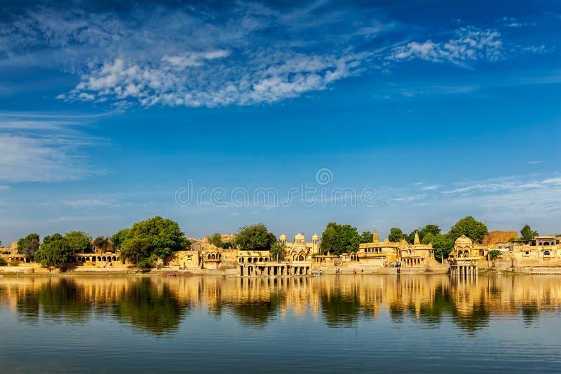Ινδικό ορόσημο Gadi Sagar στο Rajasthan στοκ φωτογραφία με δικαίωμα ελεύθερης χρήσης
