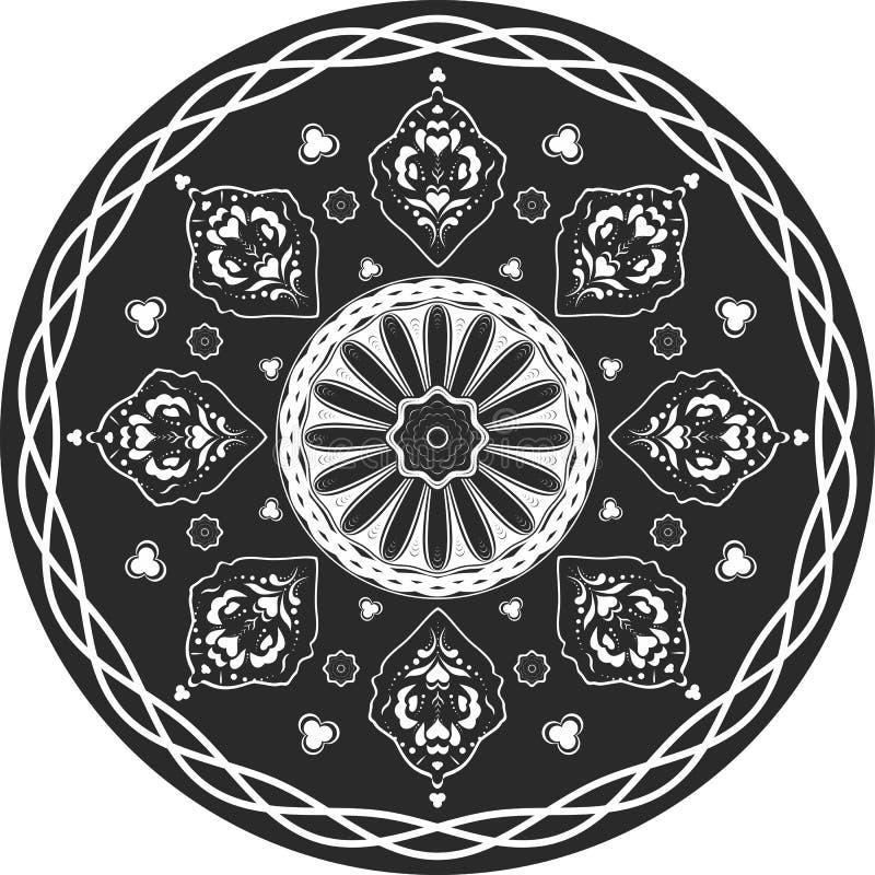 Ινδικό παραδοσιακό σχέδιο γραπτού διανυσματική απεικόνιση