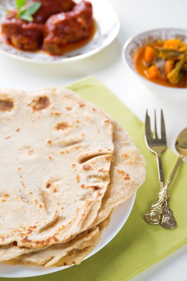 Ινδικό chapatti τροφίμων στοκ φωτογραφίες με δικαίωμα ελεύθερης χρήσης