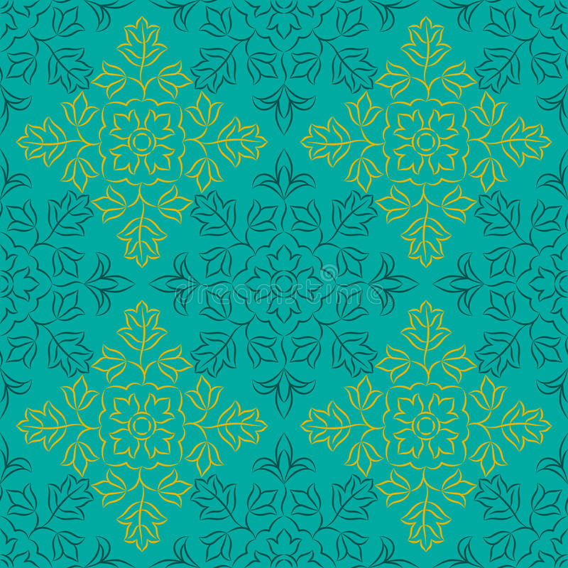 Ινδικό floral σχέδιο στοκ εικόνες με δικαίωμα ελεύθερης χρήσης