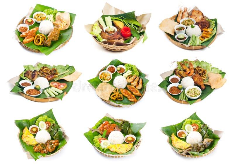 Ινδονησιακά τρόφιμα του Μπαλί στο υπόβαθρο στοκ εικόνα