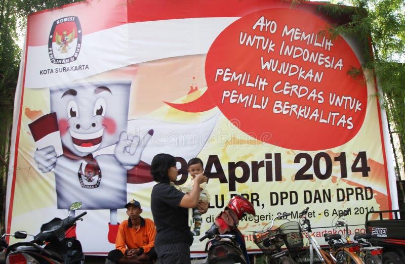 Ινδονησιακή κοινοβουλευτική εκλογή στοκ εικόνα