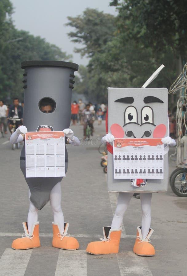 Ινδονησιακή κοινοβουλευτική εκλογή στοκ εικόνες