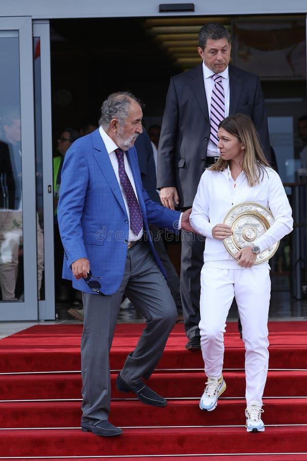 Ιονικό Tiriac και Simona Halep στοκ εικόνα