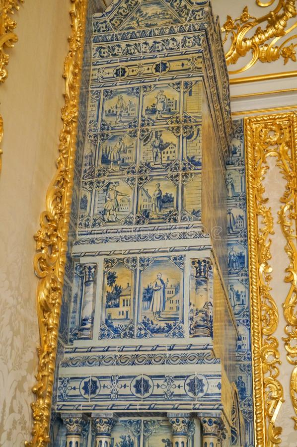 1 Ιουλίου 2017 Tsarskoye Selo, Αγία Πετρούπολη, Ρωσία Το εσωτερικό του παλατιού της Catherine στοκ φωτογραφία με δικαίωμα ελεύθερης χρήσης