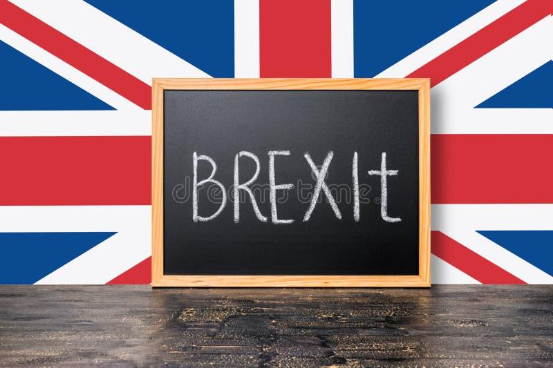23 Ιουνίου: Έννοια δημοψηφισμάτων της βρετανικής ΕΕ Brexit με τη σημαία και το handwriti στοκ φωτογραφία με δικαίωμα ελεύθερης χρήσης