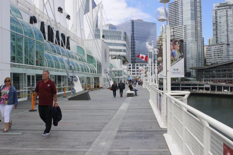 15 Ιουνίου 2018, Βανκούβερ Καναδάς: Θέση του Καναδά, σπίτι του εμπορίου του Βανκούβερ και κεντρική πρόσδεση Συνθηκών Βανκούβερ στοκ εικόνες με δικαίωμα ελεύθερης χρήσης