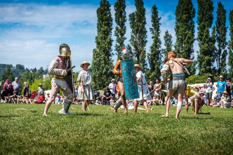 10-11 Ιουνίου 2017 Βιέννη, Γαλλία Gallo-ρωμαϊκό ιστορικό φεστιβάλ ημερών στοκ φωτογραφία