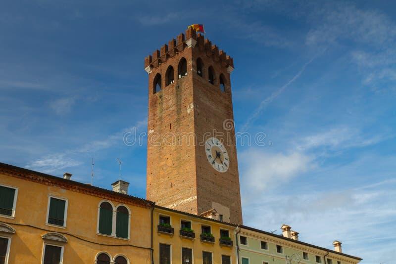 11 Ιουνίου 2016 Ιταλία - μεσαιωνικός πύργος Bassano del Grappa, VI στοκ φωτογραφία με δικαίωμα ελεύθερης χρήσης