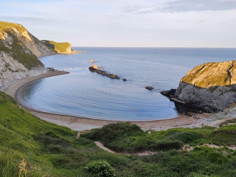 Ιουρασική ακτή κοντά στην πόρτα Durdle στο Dorset στην Αγγλία στοκ φωτογραφία με δικαίωμα ελεύθερης χρήσης