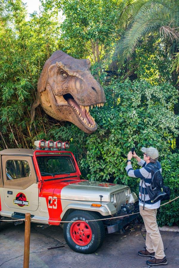 Ιουρασικό πάρκο στα νησιά UNIVERSAL STUDIO της περιπέτειας στοκ φωτογραφίες