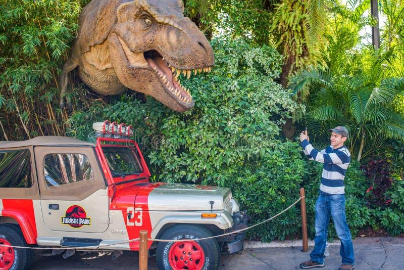 Ιουρασικό πάρκο στα νησιά UNIVERSAL STUDIO της περιπέτειας στοκ εικόνες με δικαίωμα ελεύθερης χρήσης