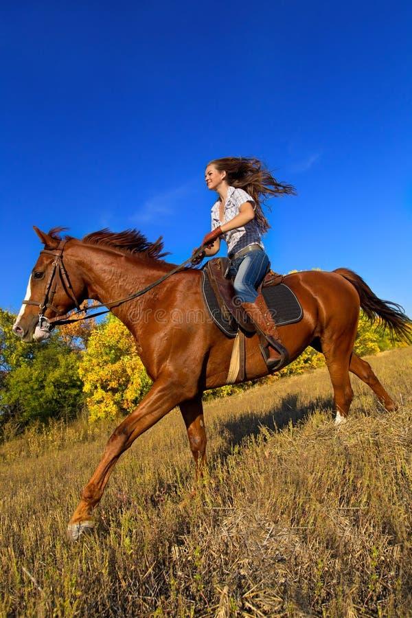 ιππασία κοριτσιών στοκ εικόνα με δικαίωμα ελεύθερης χρήσης
