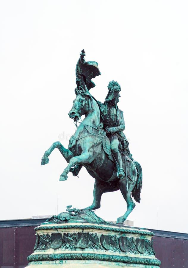 Ιππικό άγαλμα του αρχιδούκα Charles της Αυστρίας 1860, Βιέννη, στοκ φωτογραφία με δικαίωμα ελεύθερης χρήσης