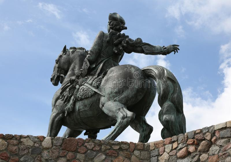 Ιππικό μνημείο στη ρωσική αυτοκράτειρα Elizabeth Petrovna, β στοκ φωτογραφία