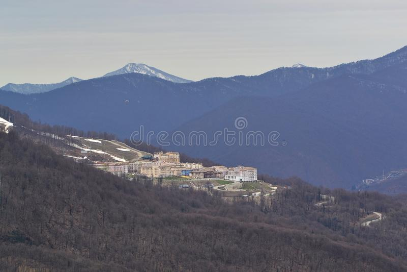 Ιπποδρόμιο βουνών σε ένα ύψος 960 μέτρων στοκ φωτογραφίες