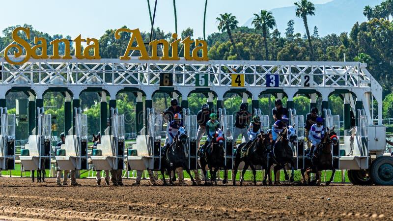 Ιππόδρομος πάρκων της Anita Santa στοκ εικόνες