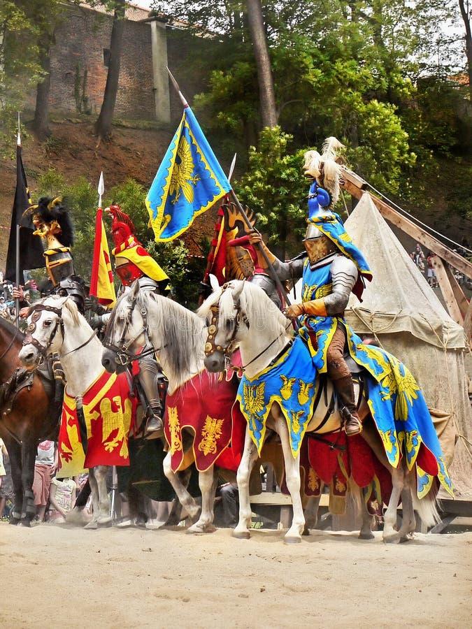 Ιππότες στα άλογα στοκ φωτογραφία με δικαίωμα ελεύθερης χρήσης