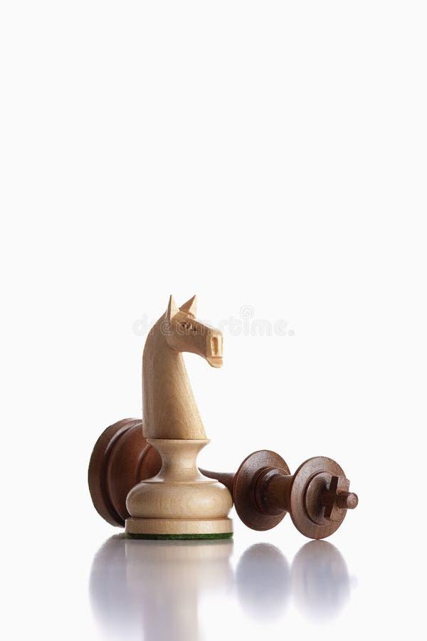 ιππότης βασιλιάδων σκακι&o στοκ φωτογραφίες με δικαίωμα ελεύθερης χρήσης