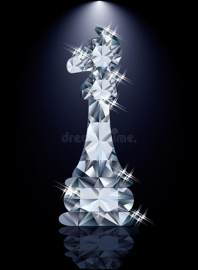 Ιππότης σκακιού διαμαντιών διανυσματική απεικόνιση