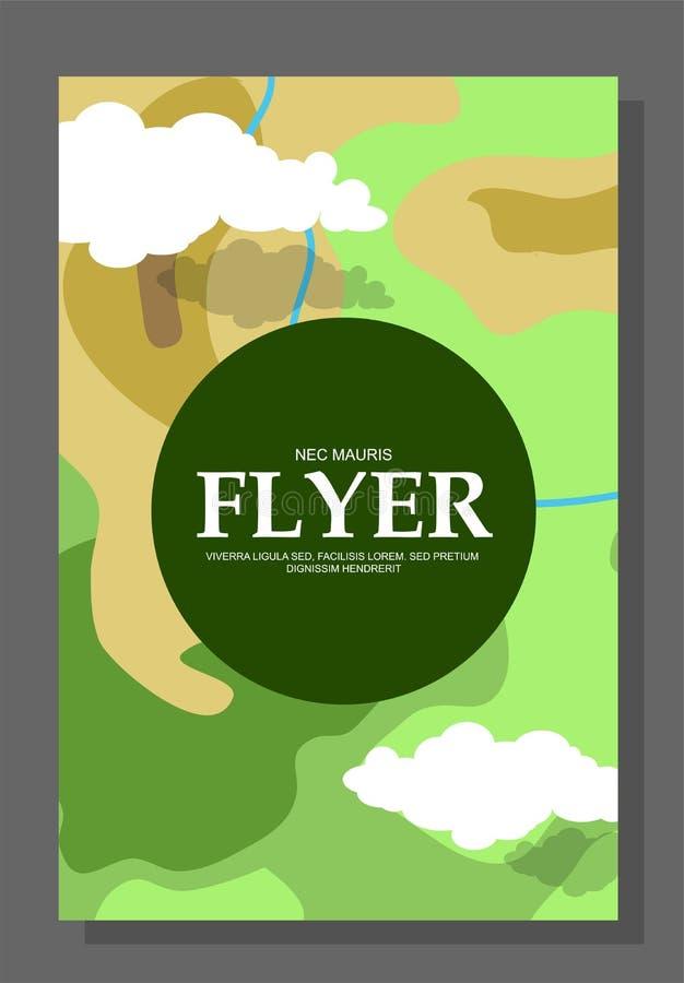 Ιπτάμενα με την έννοια ενός πεζοπορώ στα βουνά Ακραία ψυχαγωγία Περιοχές ελέγχου Επιβίωση ζωής στο ύπαιθρο ή στα ξύλα διανυσματική απεικόνιση