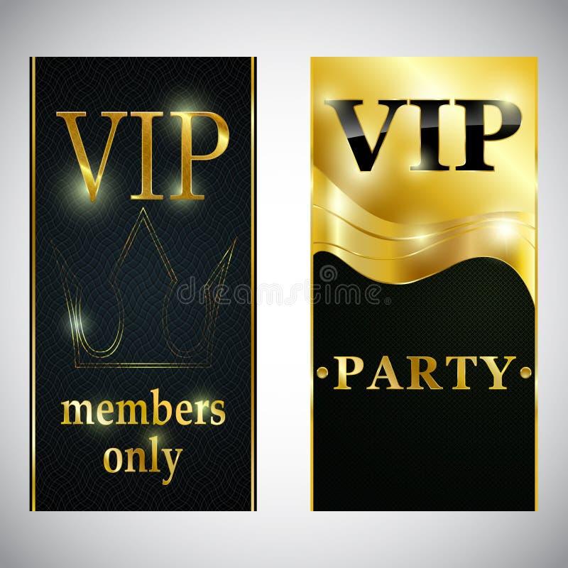 Ιπτάμενο αφισών καρτών πρόσκλησης ασφαλίστρου κομμάτων VIP λεσχών ελεύθερη απεικόνιση δικαιώματος