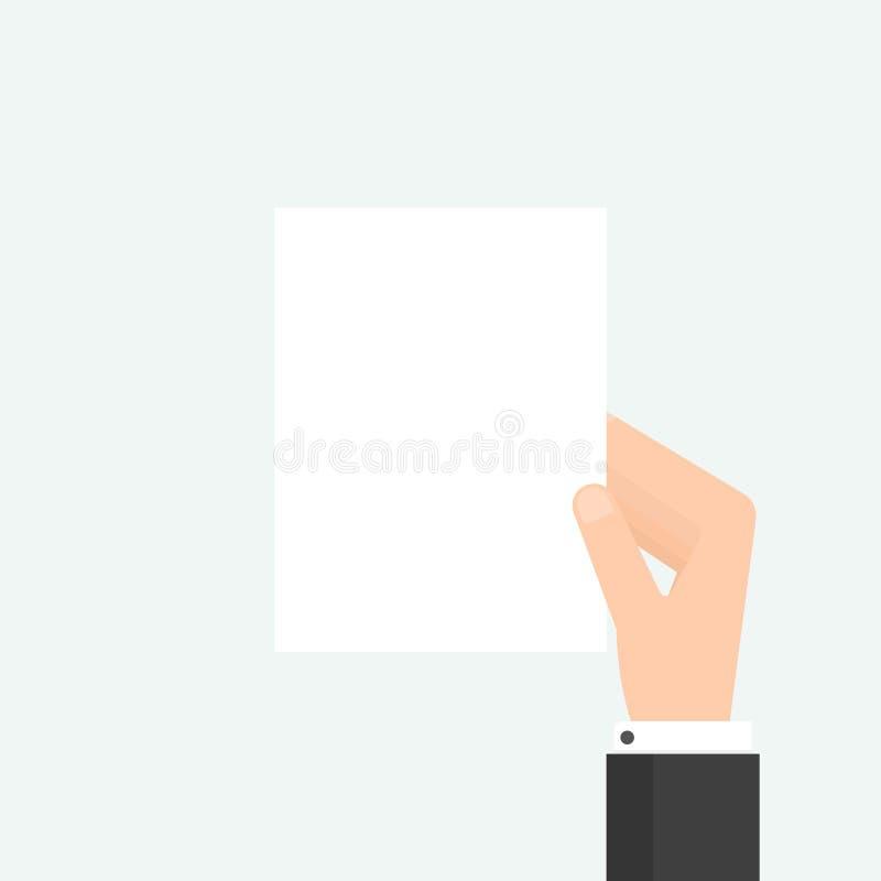Ιπτάμενο εκμετάλλευσης χεριών διανυσματική απεικόνιση