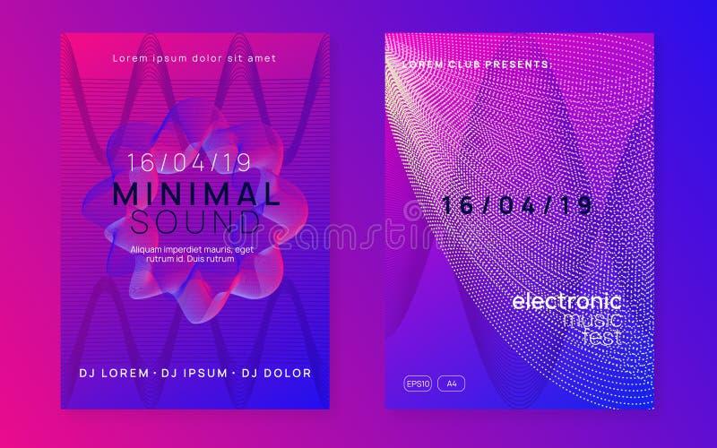 Ιπτάμενο μουσικής νύχτας ( Ηλεκτρονικό υγιές κόμμα έκστασης Techno φεστιβάλ Αφίσα γεγονότος λεσχών διανυσματική απεικόνιση