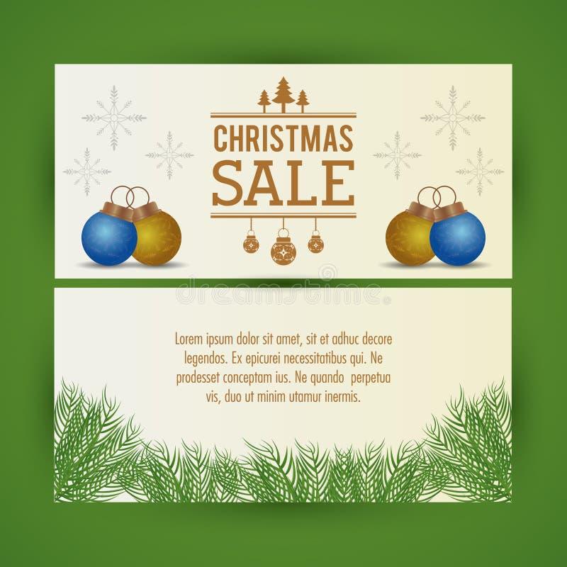 Ιπτάμενο πώλησης Χριστουγέννων ελεύθερη απεικόνιση δικαιώματος