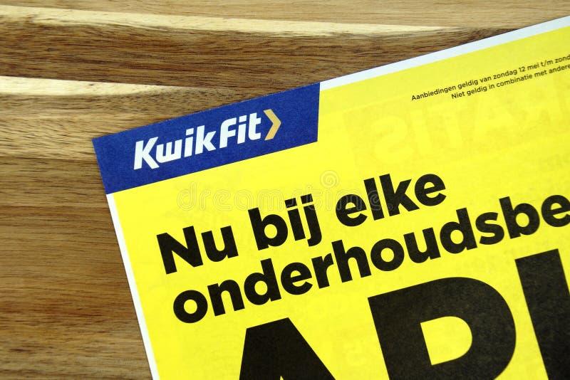 Ιπτάμενο πώλησης KwikFit στοκ εικόνες