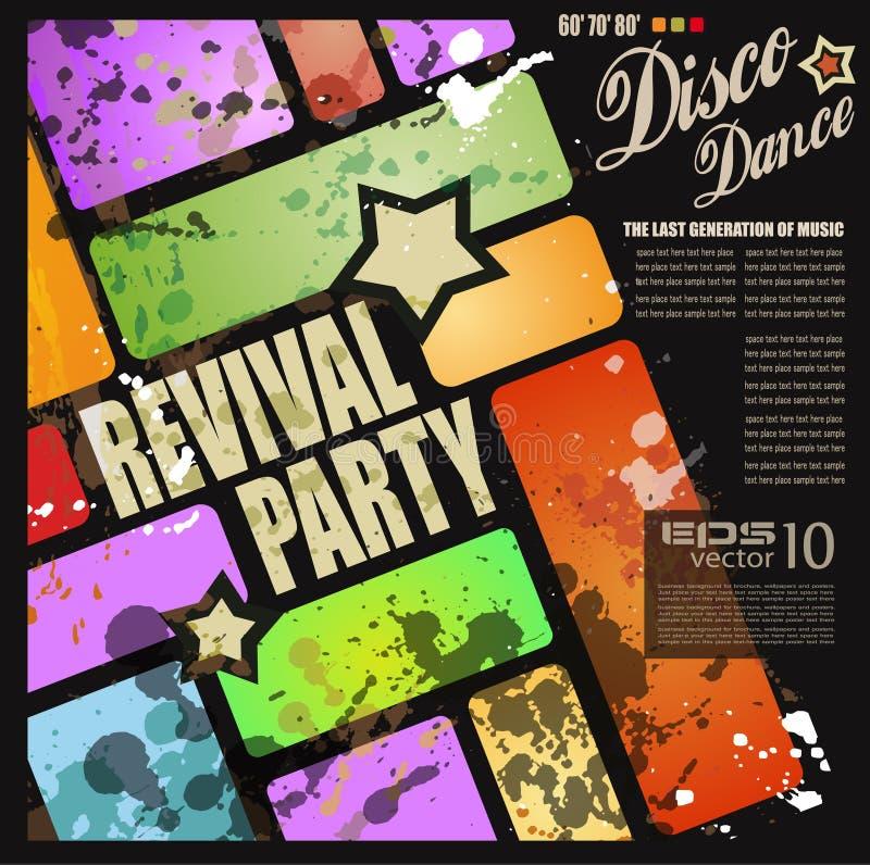 Ιπτάμενο συμβαλλόμενων μερών disco αναγέννησης Retro ελεύθερη απεικόνιση δικαιώματος